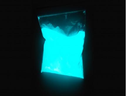 Люминесцентный пигмент Люминофор ТАТ 33 белый с голубым свечением (60 микрон)