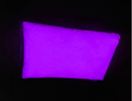 Люминесцентный пигмент Люминофор цветной ТАТ 33 фиолетовый с фиолетовым свечением (60 микрон)