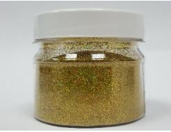 Купить Глиттер голографический GGGO/0,2 мм (1/128) золотой Tricolor