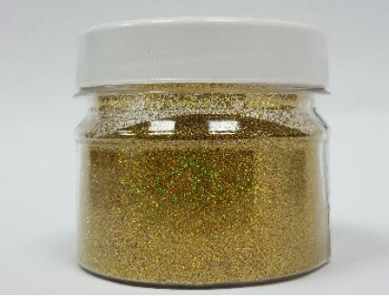 Купить Глиттер голографический золотой Tricolor GGGO/0,2 мм (1/128) - 1