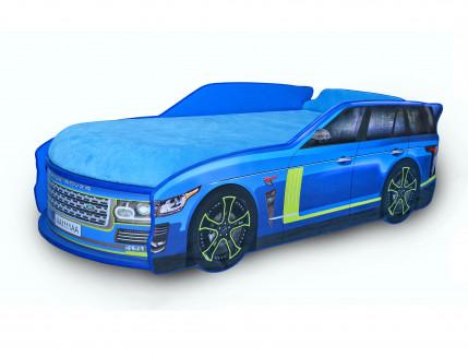 Кровать машина Джип Range Rover синяя 80х170 ДСП - интернет-магазин tricolor.com.ua