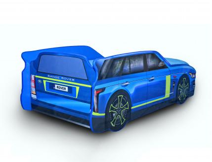 Кровать машина Джип Range Rover синяя 80х170 ДСП - изображение 2 - интернет-магазин tricolor.com.ua