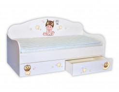 Кроватка диванчик Мальчик-совенок 80х170 ДСП
