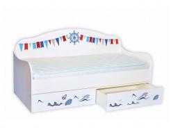 Кроватка диванчик Корабль 80х160 ДСП