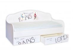 Кроватка диванчик Вояж 80х160 ДСП