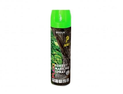 Флуоресцентная аэрозольная краска для маркировки леса Biodur Forest Marking Spray (зеленая) - интернет-магазин tricolor.com.ua