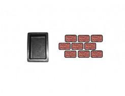 Форма для тротуарной плитки «Брук шагрень одинарный» 18x12x6 Александра