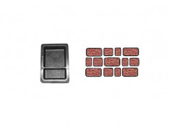 Форма для тротуарной плитки «Брук шагрень двойной» 12x12 + 12x6x6 AX