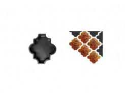 Форма для тротуарной плитки «Клевер шагрень» 26,7x21,8x4,5 Александра