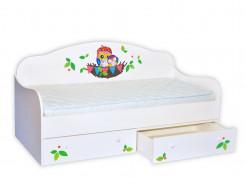 Кроватка диванчик Совушки в гнезде 80х160 ДСП