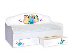 Кроватка диванчик Принцессы 80х160 ДСП