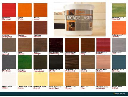 Лазурь для дерева фасадная 32 Color Bionic House антисептик Рябина - изображение 4 - интернет-магазин tricolor.com.ua