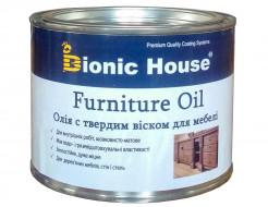 Масло для мебели Furniture oil Bionic House с твердым воском профессиональное Миндаль