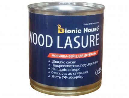 Морилка-бейц для дерева Wood Lasure Bionic House антисептическая Белая - интернет-магазин tricolor.com.ua