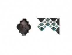 Форма для тротуарной плитки «Клевер фигурный» 26,7x21,8x4,5 Александра