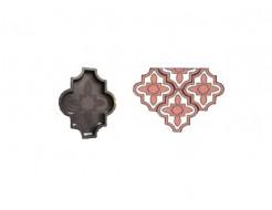 Форма для тротуарной плитки «Клевер узорный» 26,7x21,8x2,5 Александра