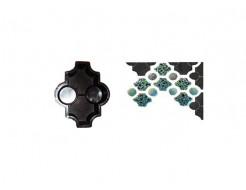 Форма для тротуарной плитки «Клевер фигурный шагрень» 26,7x21,8x6 Александра