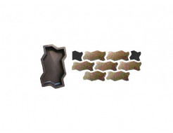 Форма для тротуарной плитки «Волна гладкая» 23,7x10,3x6 AX