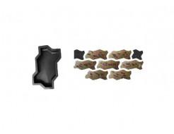 Форма для тротуарной плитки «Волна шагрень» 23,7x10,3x6 Александра