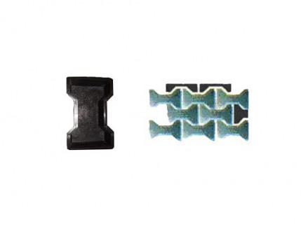 Форма для тротуарной плитки «Двойное Т гладкое» 2,5x8,8x6 AX