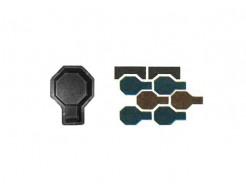 Форма для тротуарной плитки «Молоток шагрень» 22,8x8,8x6 AX