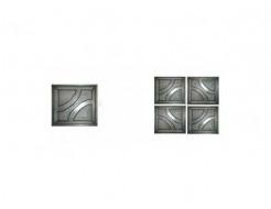 Форма для тротуарной плитки «Квадрат круг шагрень» 25x25x2,5 AX