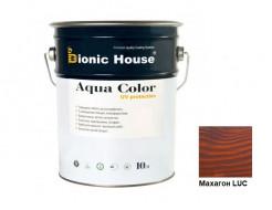 Акриловая лазурь Aqua color – UV protect Bionic House Махагон LUC - интернет-магазин tricolor.com.ua