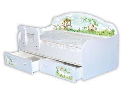 Кроватка диванчик Нежность 90х190 ДСП