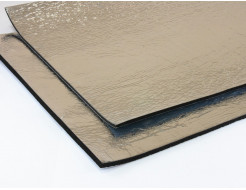 Шумоизоляция для авто каучуковая Ultimate Soft металлизированная с клеем 10мм 0,75м*0,5м