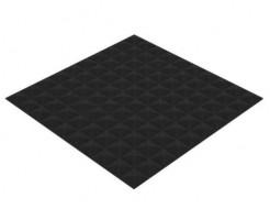 Акустическая панель Пирамида 15 мм 50х50 см Нано черный графит - интернет-магазин tricolor.com.ua