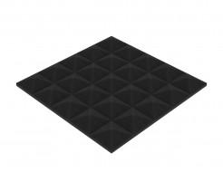 Акустическая панель Пирамида 25 мм 25х25 см средняя черный графит - интернет-магазин tricolor.com.ua