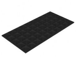 Акустическая панель Пирамида 25 мм 50х25 см средняя черный графит