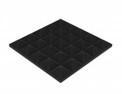 Акустическая панель Пирамида 30 мм 25х25 см средняя черный графит