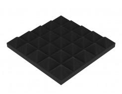 Акустическая панель Пирамида 40 мм 25х25 см средняя черный графит - интернет-магазин tricolor.com.ua