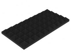 Акустическая панель Пирамида 40 мм 50х25 см средняя черный графит - интернет-магазин tricolor.com.ua