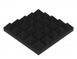 Акустическая панель Пирамида 50 мм 25х25 см средняя черный графит
