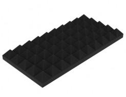 Акустическая панель Пирамида 50 мм 50х25 см средняя черный графит - интернет-магазин tricolor.com.ua