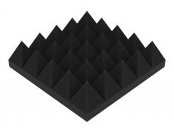 Акустическая панель Пирамида 70 мм 25х25 см средняя черный графит