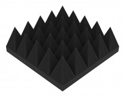 Акустическая панель Пирамида 90 мм 25х25 см средняя черный графит