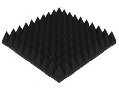 Акустическая панель Пирамида 90 мм 50х50 см средняя черный графит