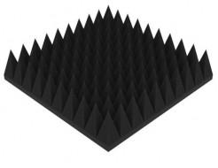 Акустическая панель Пирамида 120 мм 50х50 см средняя черный графит