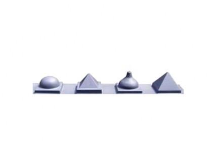 Форма колпак для столба Треугольная MF 16х16 - изображение 2 - интернет-магазин tricolor.com.ua