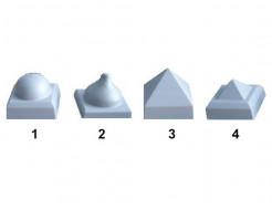 Форма колпака для столба №2 14х14 АБС MF