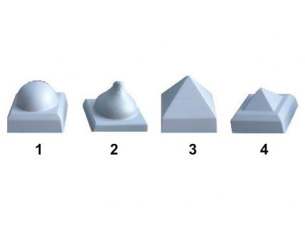 Форма колпака для столба №3 14х14 АБС MF