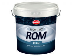 Краска латексная акриловая Gjoco Supermatt Rom 01 матовая база А белая