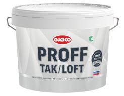 Краска интерьерная Gjoco Proff Tak/Loft PVA для потолка матовая белая