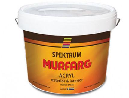 Краска фасадная акриловая Spektrum Murfarg матовая база B полупрозрачная
