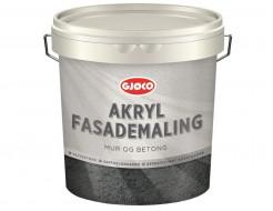 Краска фасадная латексная акриловая Gjoco Akryl Fasademaling полуматовая база А белая