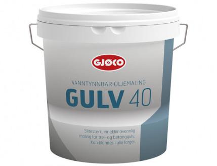 Краска уретан-алкидная Gjoco Gulv 40 для полов полуглянцевая база А белая