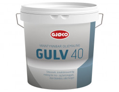 Краска уретан-алкидная Gjoco Gulv 40 для полов полуглянцевая база B полупрозрачная